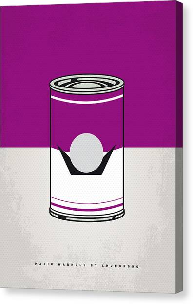 Super Mario Canvas Print - My Mario Warhols Minimal Can Poster-waluigi by Chungkong Art