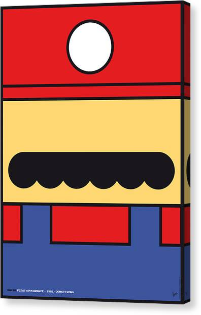 Gaming Consoles Canvas Print - My Mariobros Fig 01 Minimal Poster by Chungkong Art