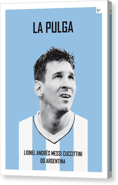 Argentinian Canvas Print - My Messi Soccer Legend Poster by Chungkong Art