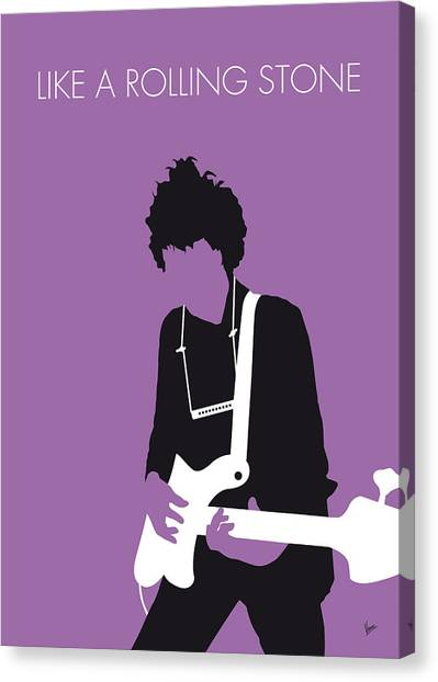 Bob Dylan Canvas Print - No001 My Bob Dylan Minimal Music Poster by Chungkong Art