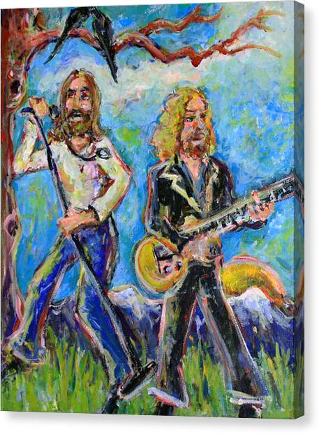 The Allman Brothers Band Canvas Print - My Morning Song - The Black Crowes by Jason Gluskin
