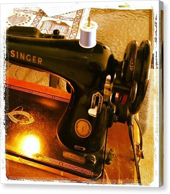 Tools Canvas Print - My Mother's Sewing Machine. #vintage by Heidi Hermes