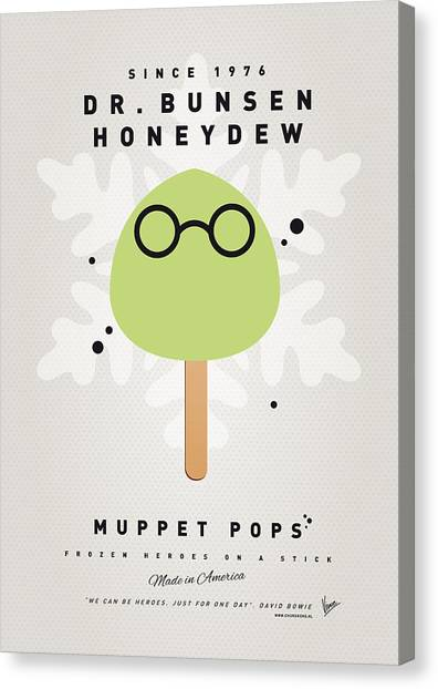Honeydews Canvas Print - My Muppet Ice Pop - Dr Bunsen Honeydew by Chungkong Art