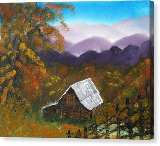 My Neighbors Barn Big Sandy Mush Nc Canvas Print by Margaret G Calenda