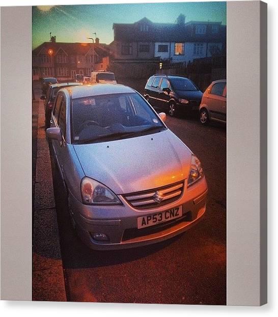 Suzuki Canvas Print - My New Car, Thanks To My Grandad! Was by Mike Hayford
