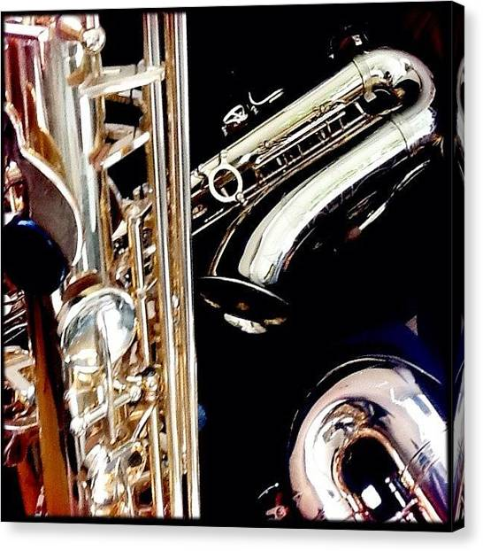 Saxophones Canvas Print - My New #sax #saxophone #music #igers by Rafael Kinzig