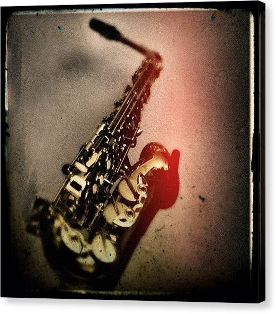 Saxophones Canvas Print - My New #saxophone. #igers #instago by Rafael Kinzig