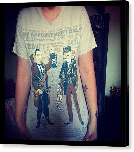 Steampunk Canvas Print - My New T-shirt (thanks To @pacy1988 & by Daniela Barisone
