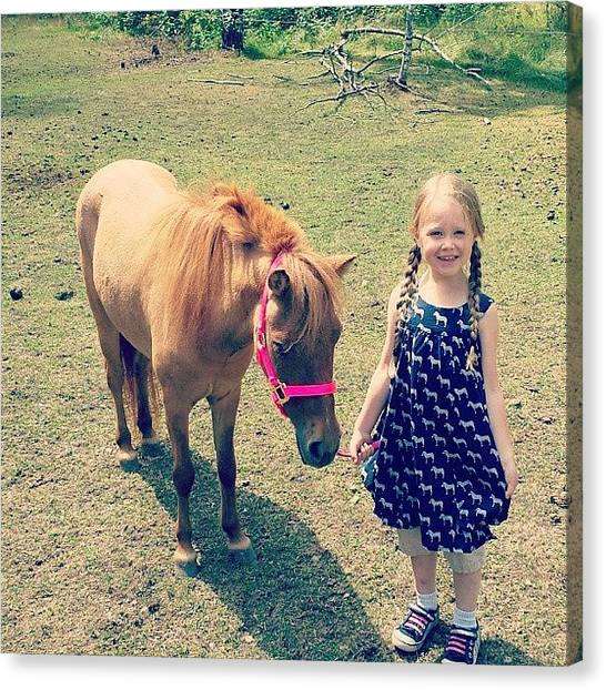 Ponies Canvas Print - My Niece Is The Only Girl I Know To by Cody Barnhart
