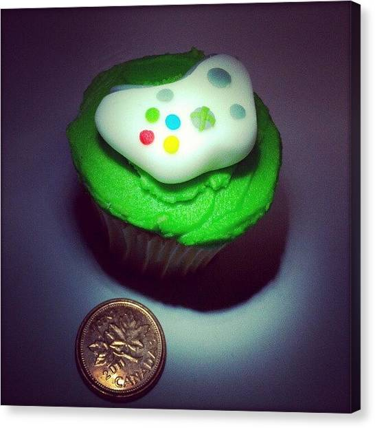 Xbox Canvas Print - My Niece Loves #baking Miniatures, Like by Lady Green