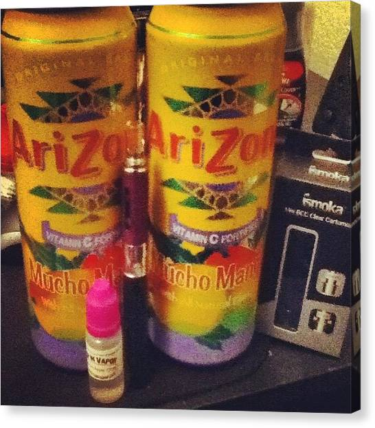 Mangos Canvas Print - My Nite Yesterday :) And Both Teas Are by LaCeshia Kurnaz
