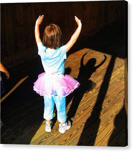 Ballerinas Canvas Print - My Now 11-year-old #daughter When She by Jeanine Farley