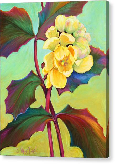 Canvas Print featuring the painting My Oregon Grape by Sandi Whetzel