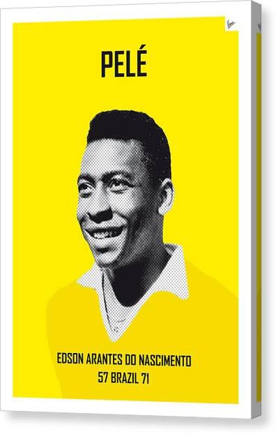 Argentinian Canvas Print - My Pele Soccer Legend Poster by Chungkong Art
