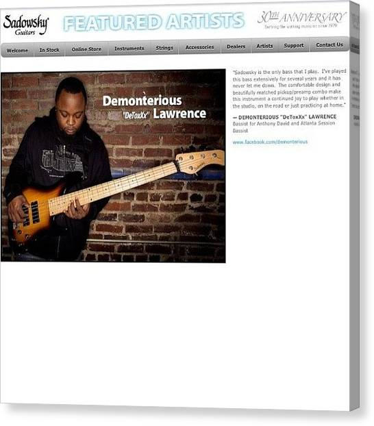 Bass Guitars Canvas Print - My Pic Was Used In An Ad For Sadowsky by Omar Farlow