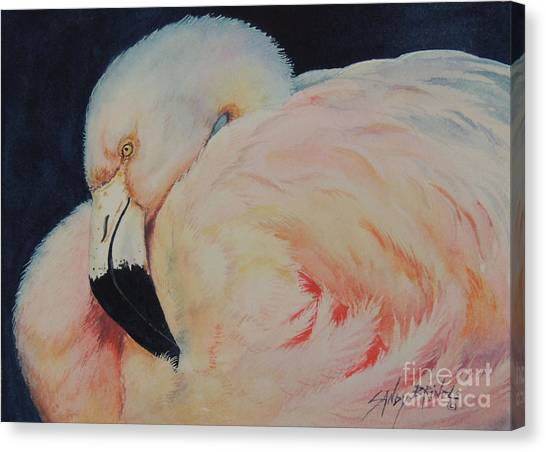 My Pink Flamingo...sold  Canvas Print