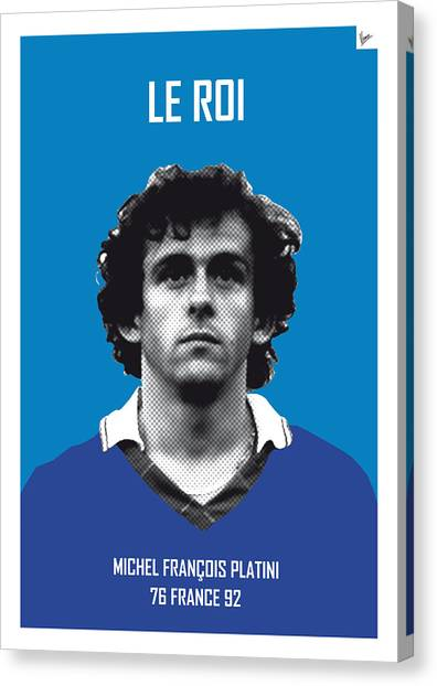 World Cup Canvas Print - My Platini Soccer Legend Poster by Chungkong Art