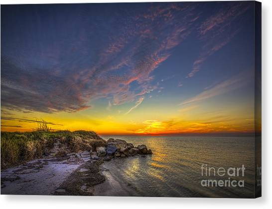 Low Tide Canvas Print - My Quiet Place by Marvin Spates