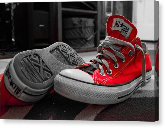 My Red All Stars Canvas Print