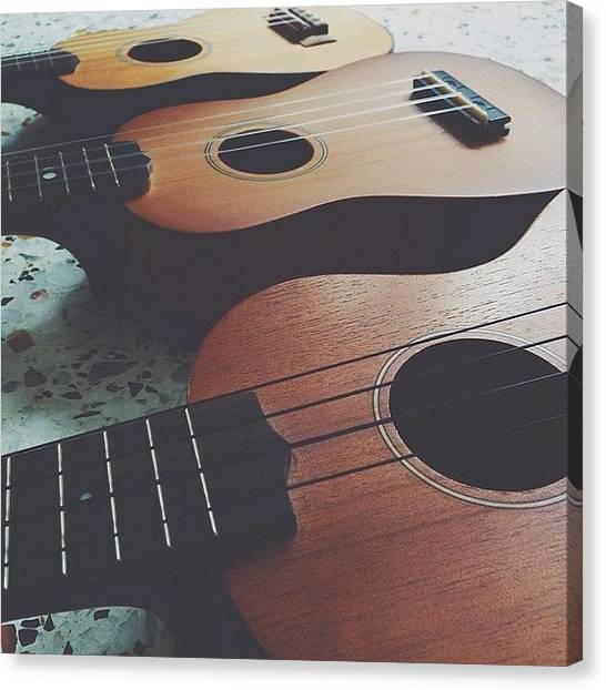Ukuleles Canvas Print - My Sayangs. #ukulele by Aklili Zack
