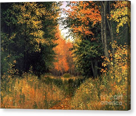 Artist Michael Swanson Canvas Print - My Secret Autumn Place by Michael Swanson