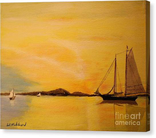 My Ship Lies Awaiting In The Harbor Canvas Print