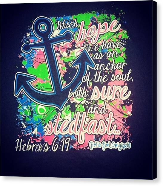 Bible Verses Canvas Print - My Shirt >>>>>> #loveit #love #hebrews by Amy Pitts
