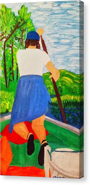 My Sister At The Cabin - Enhanced Canvas Print