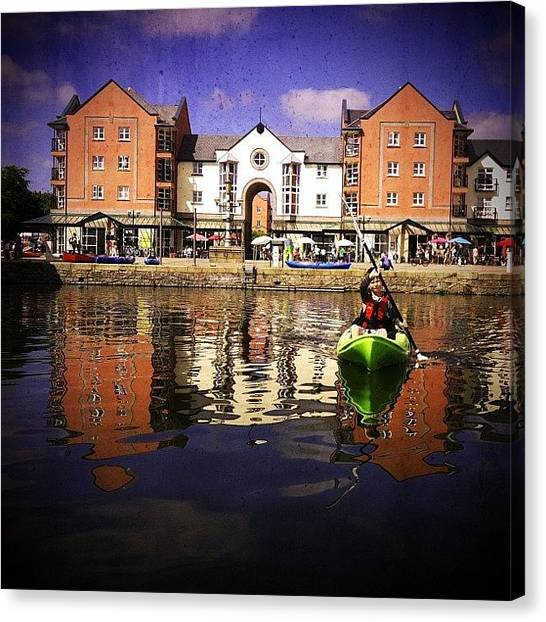 Kayaks Canvas Print - My Son And I Had A Day Out Together by Daniela Leach