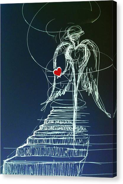 My Soul Awaits With Love At Hand Canvas Print