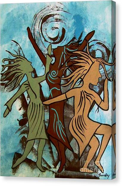 My Spirit Dances Canvas Print