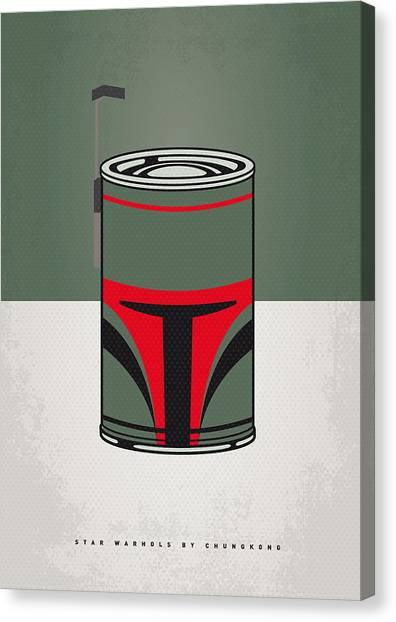 Andy Warhol Canvas Print - My Star Warhols Boba Fett Minimal Can Poster by Chungkong Art
