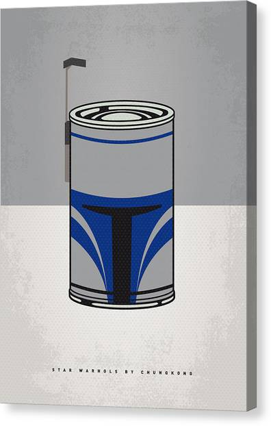 Tomato Canvas Print - My Star Warhols Jango Fett Minimal Can Poster by Chungkong Art