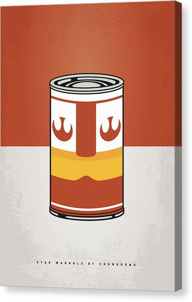 Tomato Canvas Print - My Star Warhols Luke Skywalker Minimal Can Poster by Chungkong Art