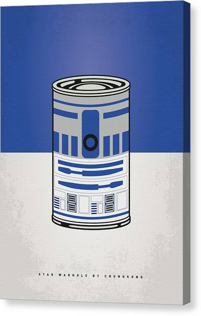 Vegetables Canvas Print - My Star Warhols R2d2 Minimal Can Poster by Chungkong Art