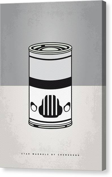 Andy Warhol Canvas Print - My Star Warhols Stormtrooper Minimal Can Poster by Chungkong Art