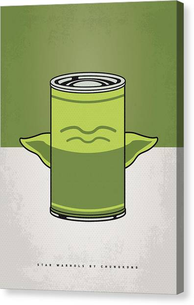 Andy Warhol Canvas Print - My Star Warhols Yoda Minimal Can Poster by Chungkong Art