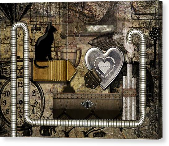 My Steampunk Heart Canvas Print