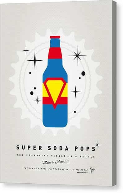 Soda Canvas Print - My Super Soda Pops No-05 by Chungkong Art