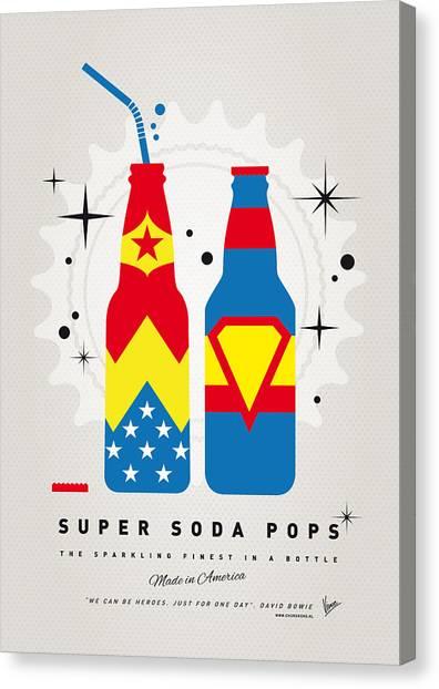 Soda Canvas Print - My Super Soda Pops No-06 by Chungkong Art