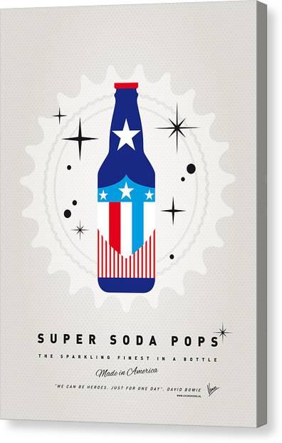 Soda Canvas Print - My Super Soda Pops No-14 by Chungkong Art