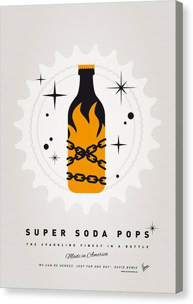 Soda Canvas Print - My Super Soda Pops No-16 by Chungkong Art