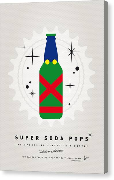 Soda Canvas Print - My Super Soda Pops No-21 by Chungkong Art
