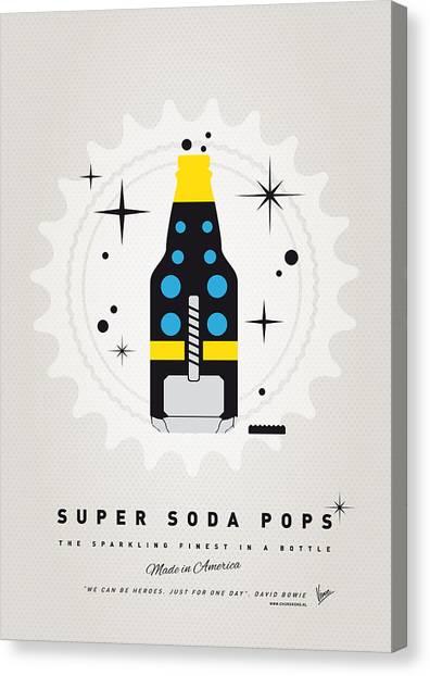 Soda Canvas Print - My Super Soda Pops No-22 by Chungkong Art