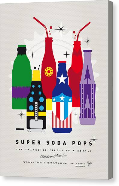 Avengers Canvas Print - My Super Soda Pops No-27 by Chungkong Art