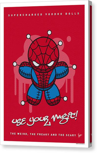 Spiders Canvas Print - My Supercharged Voodoo Dolls Spiderman by Chungkong Art