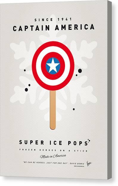 My Superhero Ice Pop - Captain America Canvas Print
