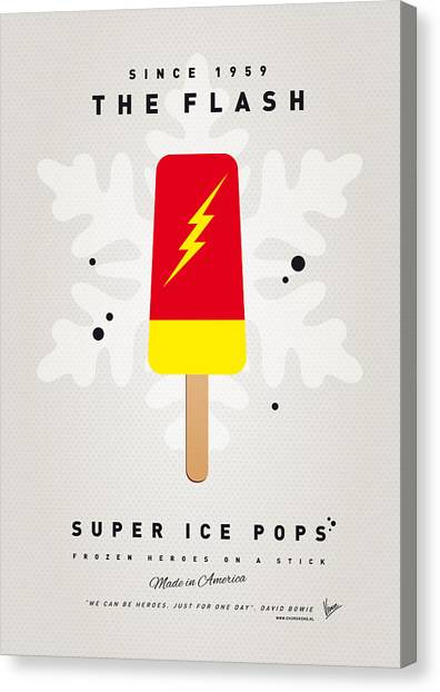Flash Canvas Print - My Superhero Ice Pop - The Flash by Chungkong Art