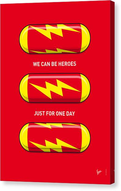 Flash Canvas Print - My Superhero Pills - The Flash by Chungkong Art