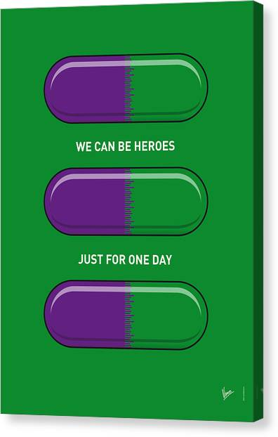 Flash Canvas Print - My Superhero Pills - The Hulk by Chungkong Art